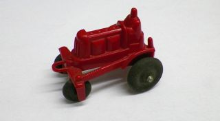 Nice Early Manoil Red Plastic Toy Tractor Made in U s A