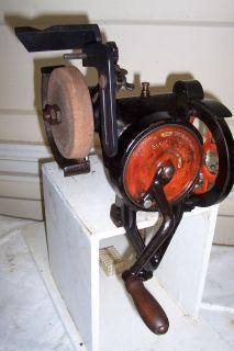 Goodell Pratt Hand Bench Grinder Sharpener Antique Vintage Old tools