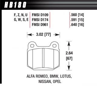 Hawk HPS F R Brake Pads Subaru WRX STI Lancer EVO