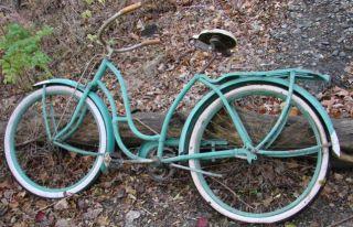 Vtg Wards Hawthorne 26 Girls Frame Bike Skip Tooth Chain Fenders
