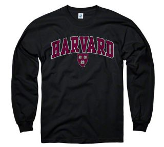 Harvard Crimson Youth Black Perennial II Long Sleeve T Shirt