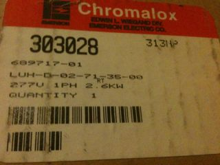 Chromalox Forced Air Hanging Heater LUHD02713500 New