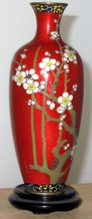 Antique Japanese Cloisonne Vase Signed Hayakawa Very Beautiful