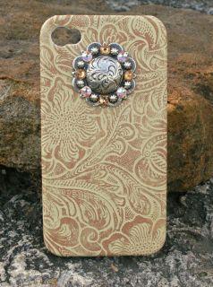 iPhone Cover 4G 4S Western Cowgirl Swarovoski Rhinestone Concho Case