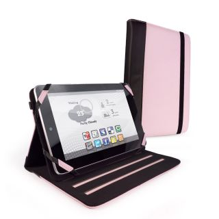 Luv Slim Stand Leather Case Cover for Google Nexus 7 / Kobo Arc   Pink