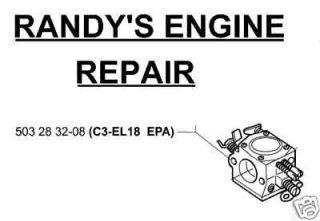 New C3 EL18 Jonsered, Husqvarna 2150 2152 2145 OEM ZAMA Carburetor