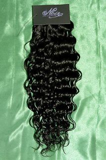 Peruvian Human Hair Extensions, Deep Wave! Color  #1B, 100% Human Hair