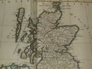 United Kingdom Ireland 1692 Jaillot Very Large Antique Engraved Chart