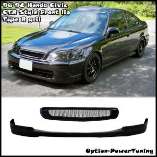 96 98 Civic CTR Front Lip Type R Grill 4DR JDM New