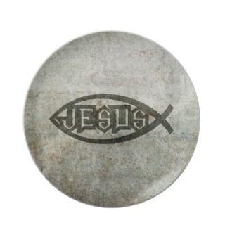Urban Concrete Jesus Fish Plates