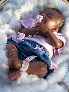 Footprints~ Reborn Biracial Baby~Taylor~ Sculpt By Samantha L.Gregory