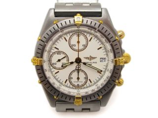 Breitling Windrider Chronomat Stainless Steel Chronograph 18k Gold