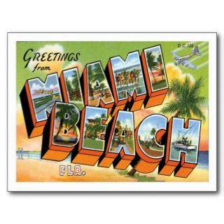 Miami Beach Florida FL Postcard