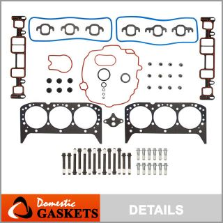 Astro S10 GMC Savana Head Gasket Set Head Bolts V6 OHV
