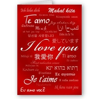 Te amo (30 idiomas) tarjetas de