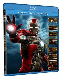 New Iron Man 2 Three Disc Blu Ray DVD Combo 2010