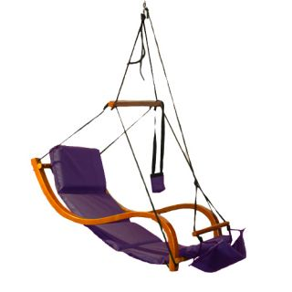 Air Swing Hammock Chair Wooden Deluxe Outdoor Hanging Patio NEW