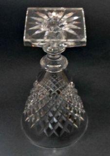 Crystal Wine Stems Hawkes Delft Diamond Cutting Square Base