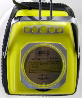 this listing vintage jasco am fm headphone radio model 212xla