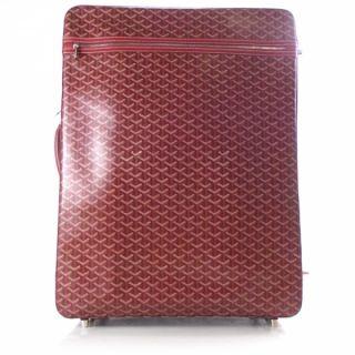 Goyard Trolley PM Rolling Suitcase Red Travel Bag Case