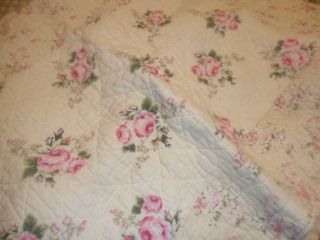 BRAND NEW BEAUTIFUL SHABBY COUNTRY CHIC OVERSIZED QUEEN QUILT with 2