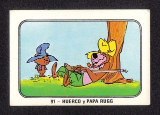 Bears Paw Shag Rugg 1970s Hanna Barbera Cartoon Card Spain