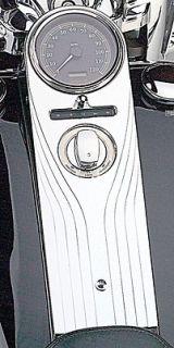 Arlen Ness Stepped Billet Dash Panel Cover 95 07 Road King, Harley