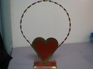 Basket Heart Basket Funeral Graveside Valentines Day Basket