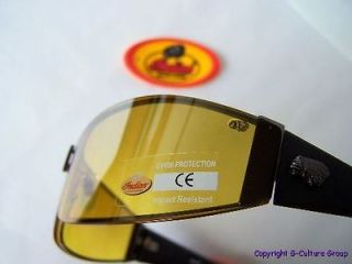 INDIAN MOTORCYCLES SUNGLASSES Night Driving Amber Wraparound BONO U2