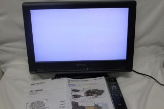 Emerson LD190EM1 19 HDTV Flat Panel Monitor DVD Player HDMI TV as Is