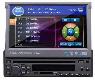 HD In Dash 1 Din 7 Touch Screen Car Stereo CD DVD Player Radio Ipod TV