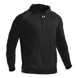 NEW BLACK UNDER ARMOUR Armour Fleece Team Hoody Warm Winter Sweatshirt