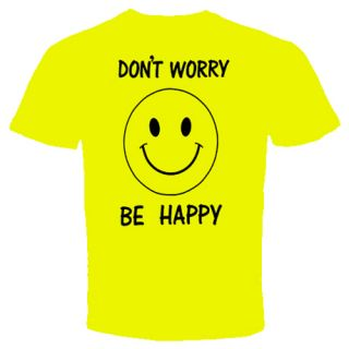 dont worry be happy smile black on yellow