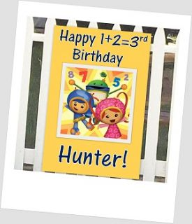 Team Umizoomi Custom Personalized Happy Birthday Party Banner