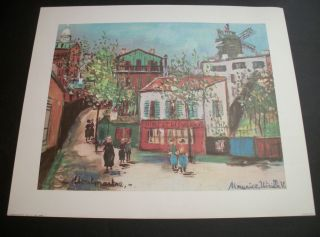 donald art co 1656b lithograph maurice utrillo montmartre store fronts
