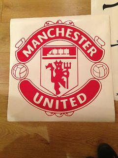 Manchester United Logo Wall Art Sticker MUFC Wall Decal For Walls,Vans