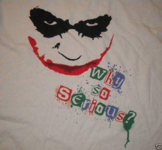 Batman Joker T Shirt Heath Ledger Why So Serious 2XL