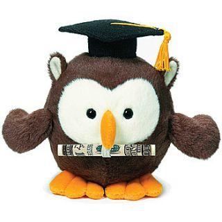 NEW Owl Graduation Money Holder Plush   High School & College Gift for