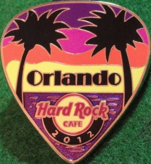 Hard Rock Cafe ORLANDO 2012 POSTCARD Series Guitar Pick PIN Hot New in