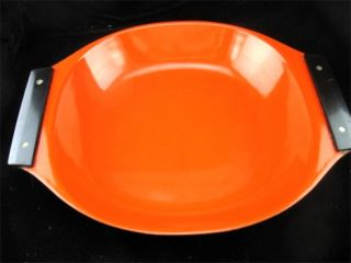 CathrineHolm Paella Pan in Burnt Orange w/Black Handles Holland