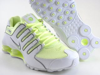 Nike Shox NZ White Lime Yellow Running Trainer Gym Work Womens Shoes