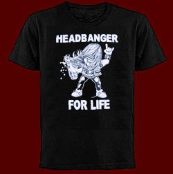 headbanger t shirt thrash metal heavy metal maiden sabbath priest