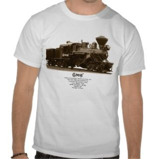 Climax Steam Locomotive Tshirt
