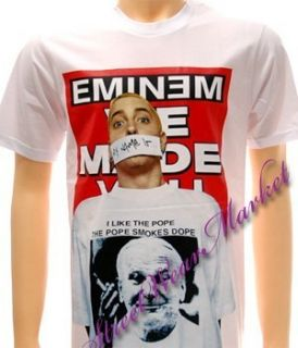 Eminem Punk Rock Pop Men Heavy Metal Music Tour Rap Rapper T shirt Sz