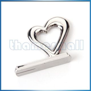Wedding Party Heart Style Reception Table Place Card Holder Memo Stand