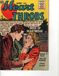 HEAR HROBS NOVEMBER #37 [1955] VINAGE ROMANCE COMIC BOOK