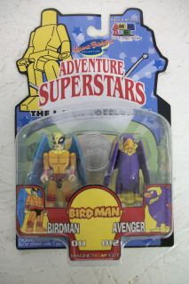 Hanna Barbera Adventure Superstars I Men Birdman and Avenger Figures