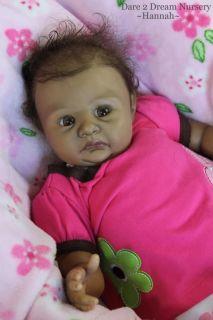 Biracial Baby Girl Lifelike Realistic Doll Hannah Schenk D2DN