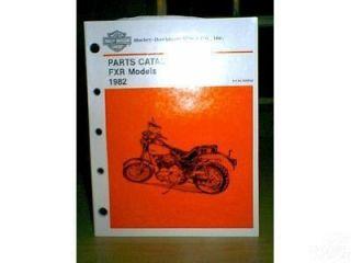Harley Davidson 1982 FXR Parts Catalog