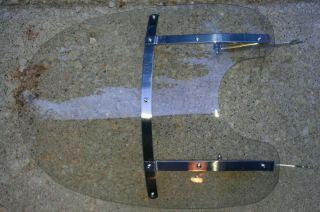 Harley Davidson windshield and mounting brackets OEM Harley parts wide